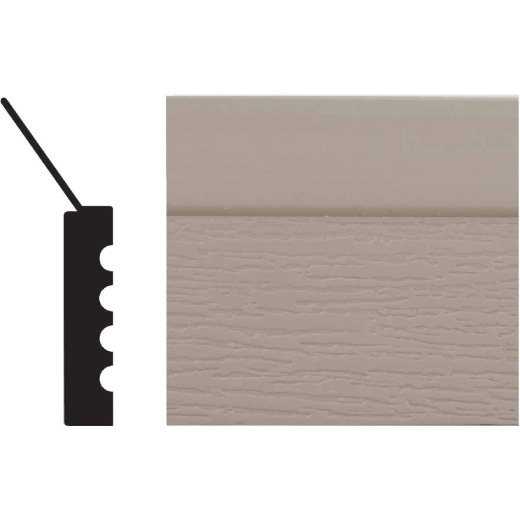 Royal Thermo Stop 2 In. W. x 7/16 In. H. x 16 Ft. L. Sandstone PVC Weatherstrip Garage Door Stop