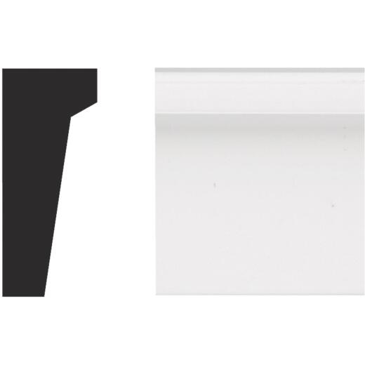 Royal 11/16 In. W. x 1-5/8 In. H. x 12 Ft. L. White PVC Garage Door Drip Cap