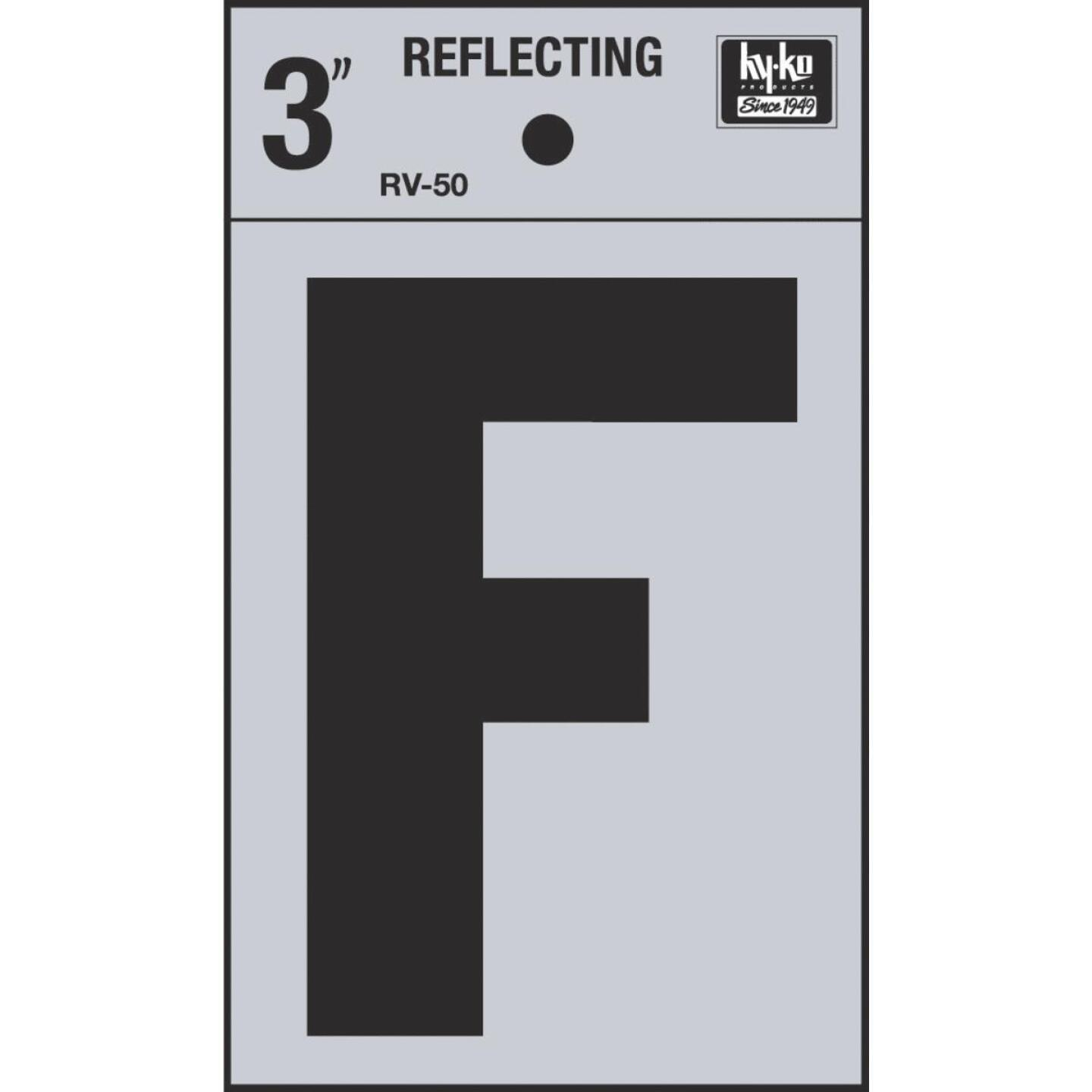 Hy-Ko Vinyl 3 In. Reflective Adhesive Letter, F Image 1