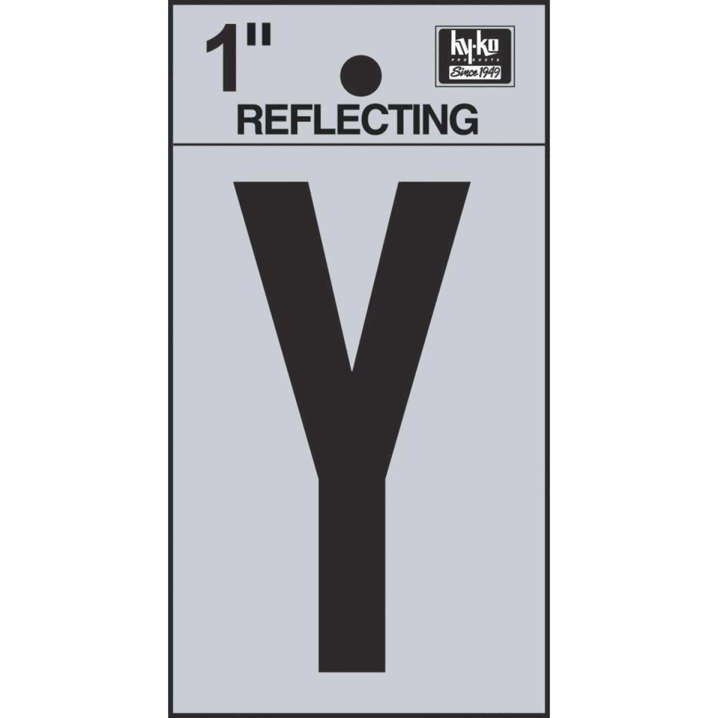 Hy-Ko Vinyl 1 In. Reflective Adhesive Letter, Y Image 1