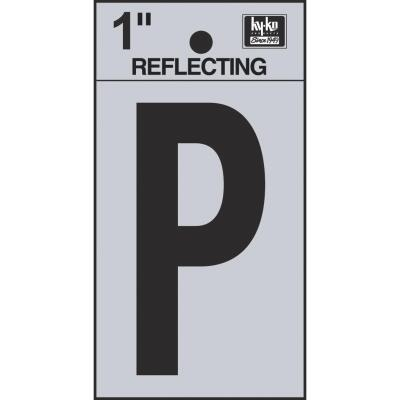 Hy-Ko Vinyl 1 In. Reflective Adhesive Letter, P
