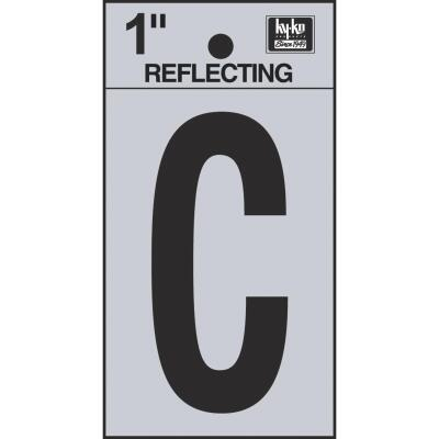 Hy-Ko Vinyl 1 In. Reflective Adhesive Letter, C