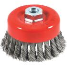 Forney 4 In. Knotted .020 In. Angle Grinder Wire Brush Image 1