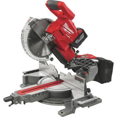 Milwaukee M18 FUEL 18-Volt Lithium-Ion Brushless Dual-Bevel Sliding Compound Cordless Miter Saw Kit