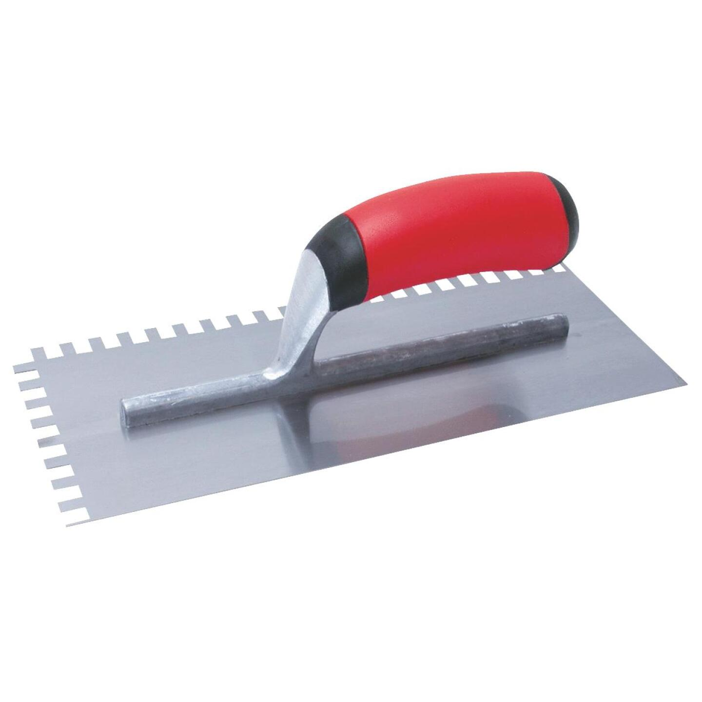 QLT 1/4 x 1/4 x 1/4 In. Square Notched Trowel w/Soft Grip Image 1