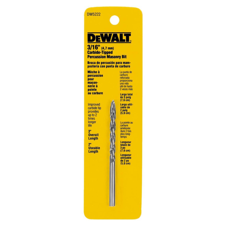 DeWalt 3/16 In. x 3 In. Masonry Drill Bit Image 1