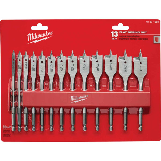 Milwaukee 13-Piece Spade Bit Set
