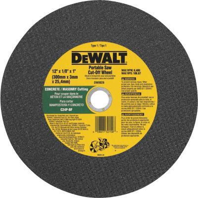 DeWalt HP Type 1, 12 In. Cut-Off Wheel