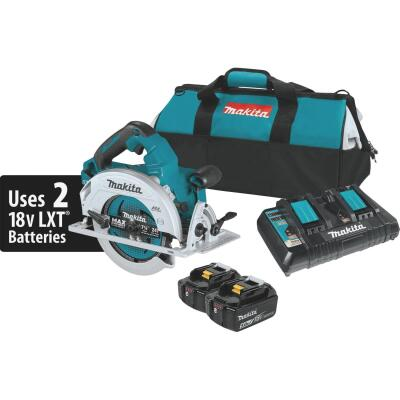 Makita 18 Volt X2 LXT Lithium-Ion Brushless 7-1/4 In. Cordless Circular Saw Kit