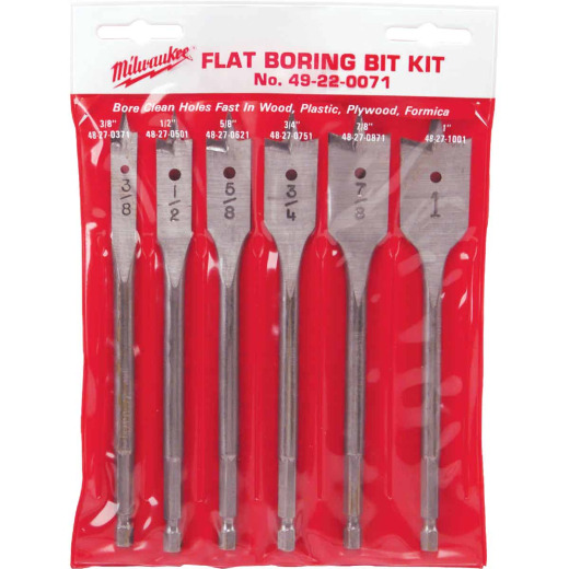 Milwaukee 6-Piece Universal Spade Bit Set