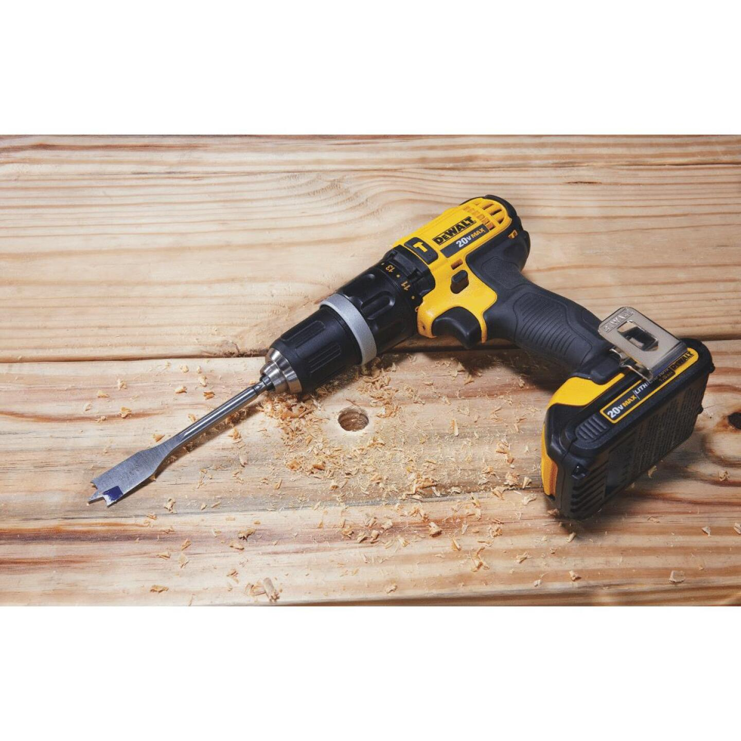 DeWalt 20 Volt MAX Lithium-Ion 1/2 In. Compact Cordless Hammer Drill Kit Image 3