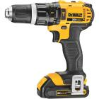 DeWalt 20 Volt MAX Lithium-Ion 1/2 In. Compact Cordless Hammer Drill Kit Image 6