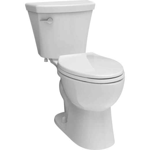 Delta Turner White Elongated Bowl 1.28 GPF Toilet