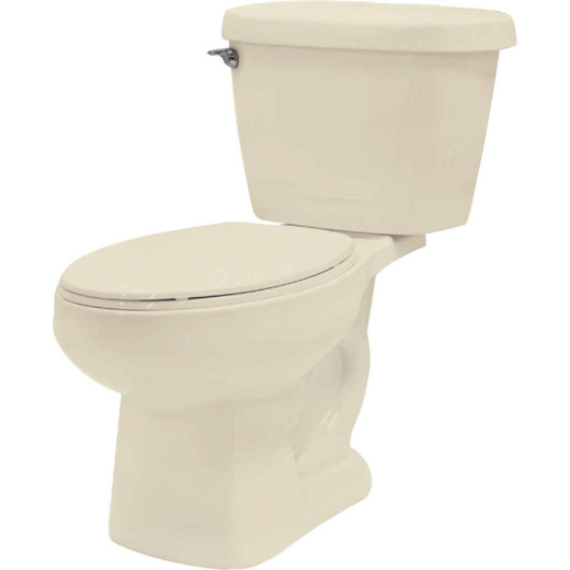 Cato Jazmin Bone Round Bowl 1.28 GPF Toilet-To-Go