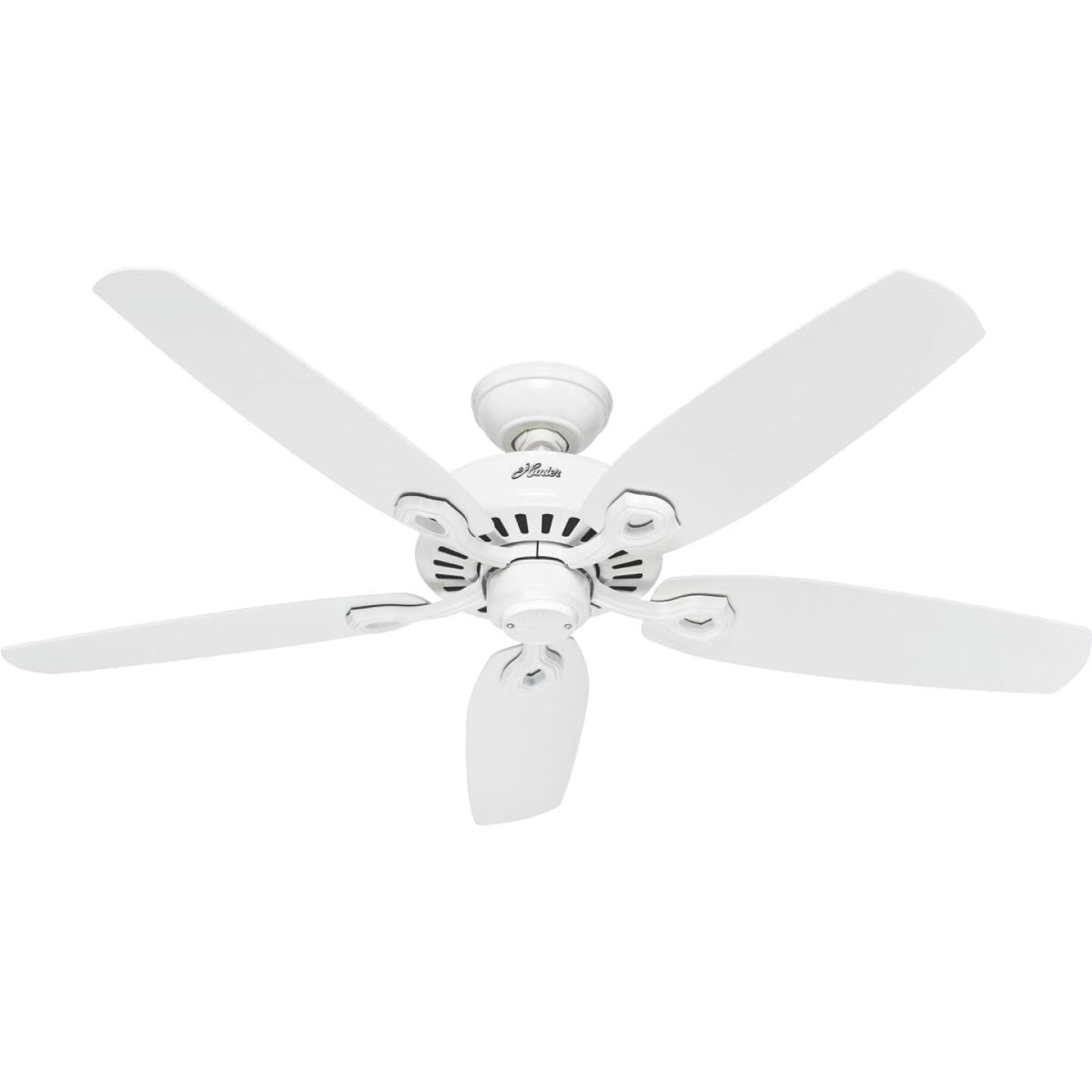Hunter Builder Elite 52 In. White Ceiling Fan Image 1