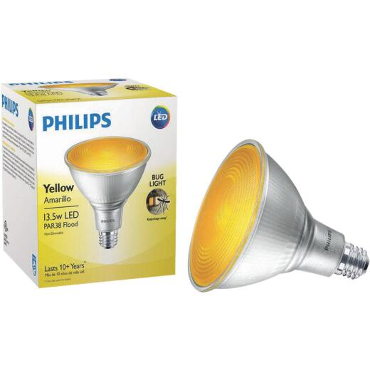 Philips 100W Equivalent Yellow PAR38 Medium Dimmable LED Bug Light Bulb