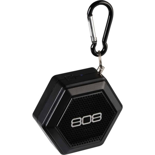 808 Hex Tether Bluetooth Black Wireless Speaker