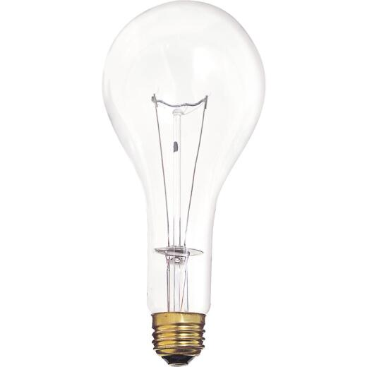 Satco 300W Clear Medium Base PS25 Incandescent High Wattage Light Bulb