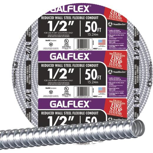Southwire 1/2 In. x 50 Ft. RWS Flexible Flexible Metal Conduit