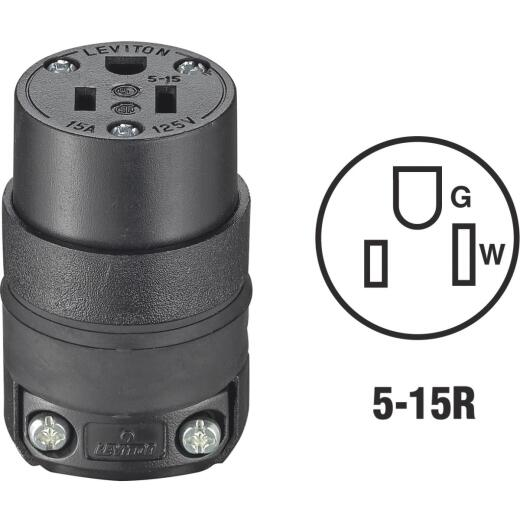 Do it 15A 125V 3-Wire 2-Pole Rough Use Cord Connector