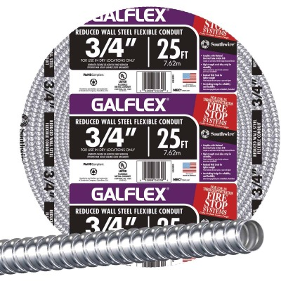Southwire 3/4 In. x 25 Ft. RWS Flexible Flexible Metal Conduit