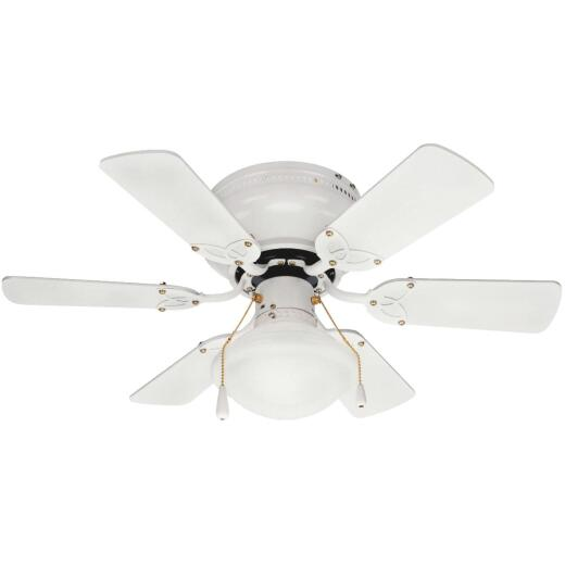 Home Impressions Twister 30 In. White Ceiling Fan with Light Kit