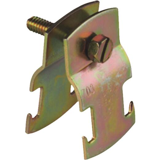 Superstrut 1-1/4 In. Gold Galvanized Electroplated Zinc Universal Pipe Clamp
