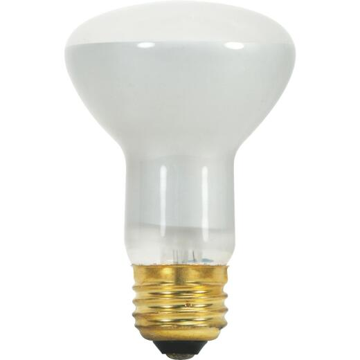 Satco 45W 120V Frosted Medium Base R20 Reflector Incandescent Floodlight Light Bulb