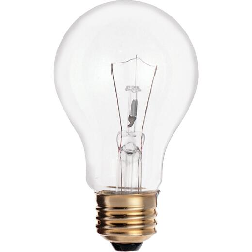 Satco 25W Clear Medium Base A19 Incandescent Light Bulb (2-Pack)
