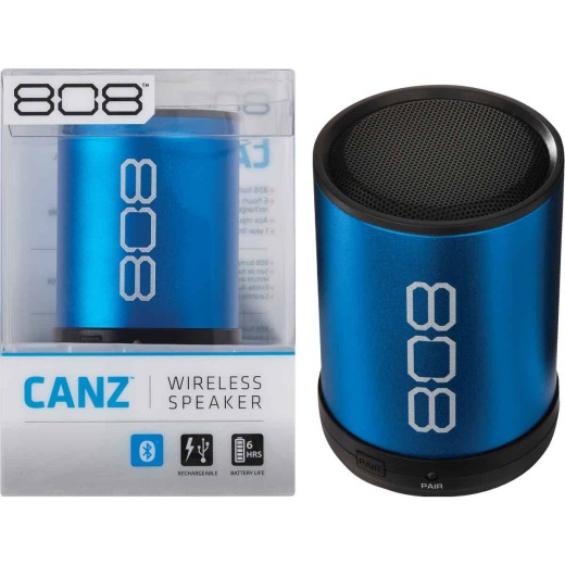 808 Canz 2 Bluetooth Blue Wireless Speaker