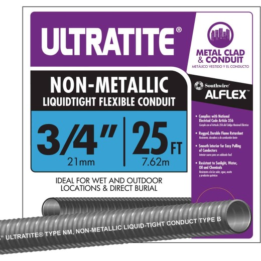 Southwire 3/4 In. x 25 Ft. Flexible Non-Metallic Liquid Tight Conduit