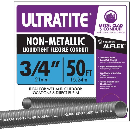 Southwire 3/4 In. x 50 Ft. Flexible Non-Metallic Liquid Tight Conduit