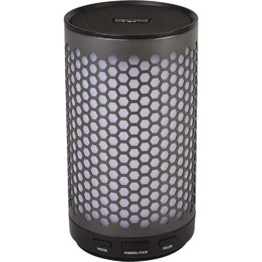 808 Canz Glo Bluetooth Gun Metal Gray Wireless Speaker