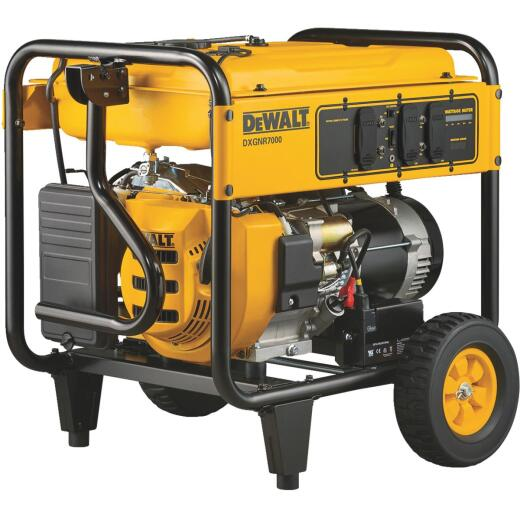 DeWalt 7000W Gasoline Powered Electric Start Portable Generator (CARB Compliant)