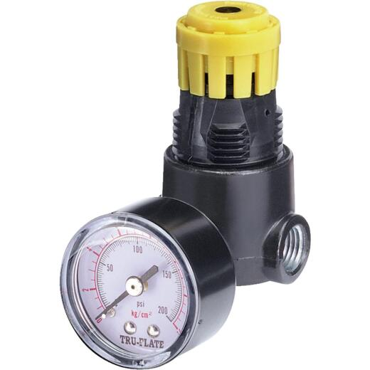 Tru-Flate 1/4 In. NPT 250 PSI Mini Pressure Regulator