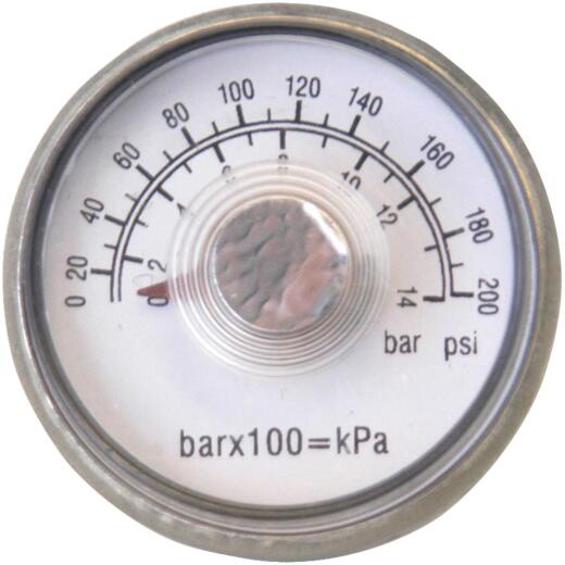 Campbell Hausfeld 1/8 In. NPT Back Mount Pressure Gauge