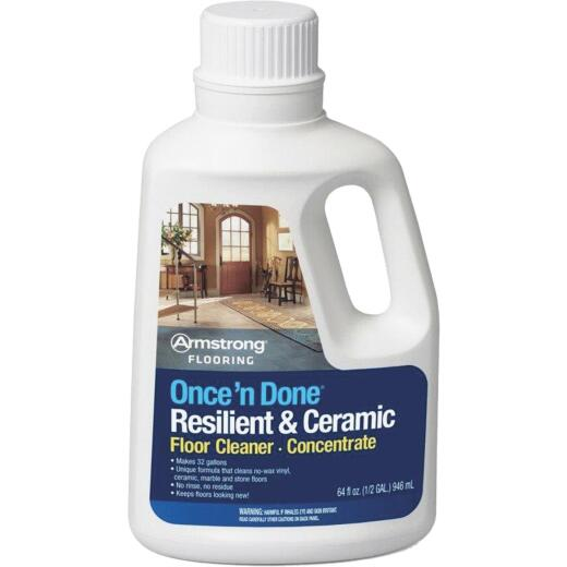 Armstrong Flooring Once 'N Done 1/2 Gal. Resilient & Ceramic Floor Cleaner Concentrate