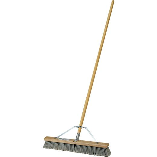 DQB 24 In. W. x 64 In. L. Wood Handle Contractor Push Broom