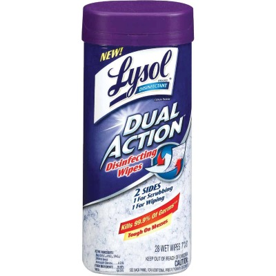 Lysol Dual Action Disinfecting Wipes (28-Count)