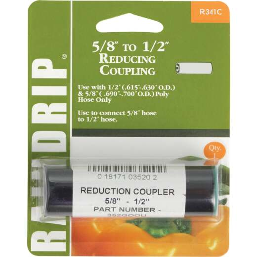 Raindrip 1/2, 5/8 In. Tubing Compression Reducer Coupling