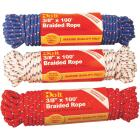 Do it 3/8 In. x 100 Ft. Assorted Colors Diamond Braided Polypropylene Packaged Rope Image 1