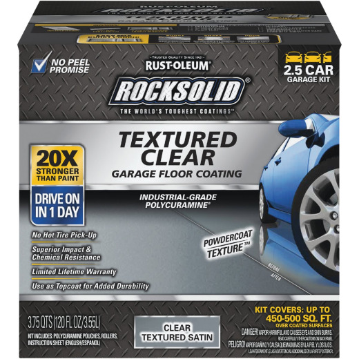 Rust-Oleum RockSolid Textured Topcoat Floor Coating Kit, Clear, 60 Oz.