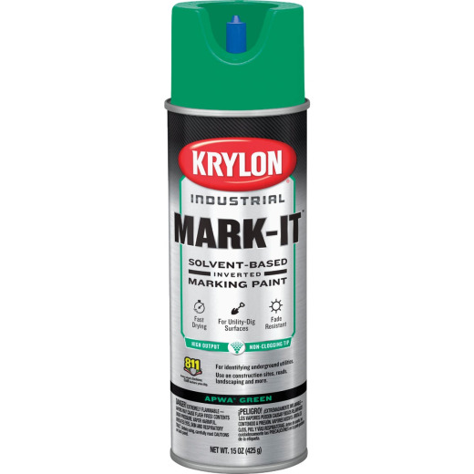 Krylon APWA Green 15 Oz. Inverted Marking Spray Paint