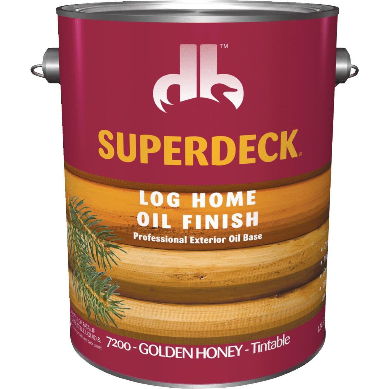 Duckback SUPERDECK VOC Translucent Log Home Oil Finish, Golden Honey, 1 Gal. Image 1