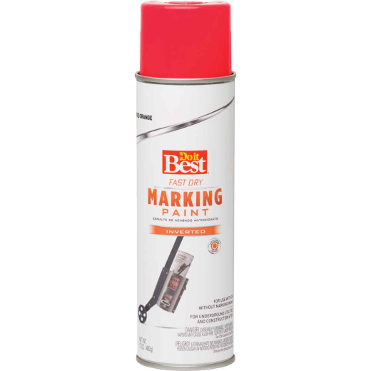 Do it Best Red Orange 17 Oz. Inverted Marking Spray Paint