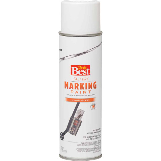Do it Best White 17 Oz. Inverted Marking Spray Paint