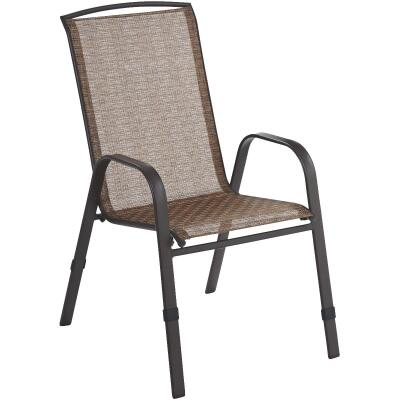 Outdoor Expressions Greenville Brown Steel Stackable Chair