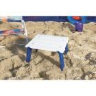 Rio Personal White 14 In. W. x 16 In. L. Rectangle Plastic Folding Side Table Image 5