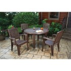 Brentwood 48 In. Round Brown Resin Table Image 2