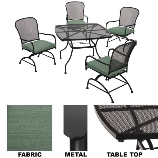 Pacific Casual Magnolia Park 5-Piece Dining Set with Cushions